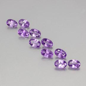 Violet Amethyst Gem - 0.4ct Oval Facet (ID: 356973)