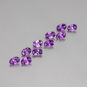 Deep Purplish Violet Amatista Gema - 0.4ct Forma ovalada (ID: 356977)
