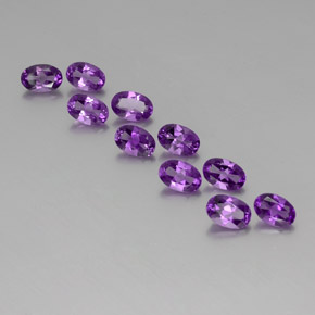 Violet Amethyst Gem - 0.4ct Oval Facet (ID: 356995)