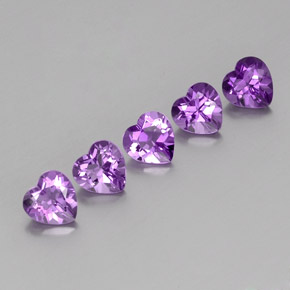 Violet Amethyst Gem - 0.7ct Heart Facet (ID: 357092)