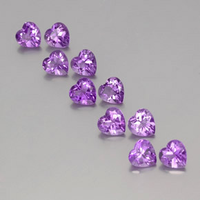 thumb image of 0.7ct Heart Facet Violet Amethyst (ID: 357156)