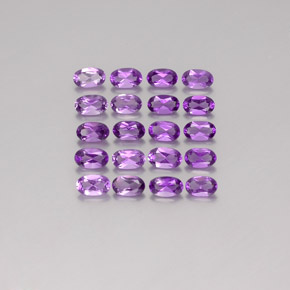 Violet Amethyst Gem - 0.2ct Oval Facet (ID: 357169)