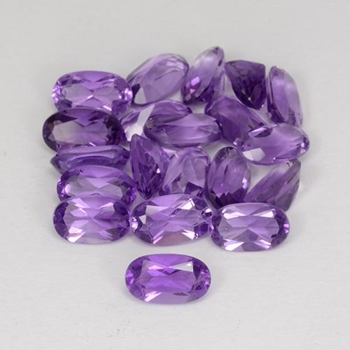 Violet Amethyst Gem - 0.2ct Oval Facet (ID: 357173)