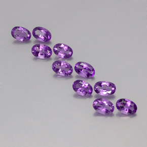 Violet Amethyst Gem - 0.4ct Oval Facet (ID: 357316)