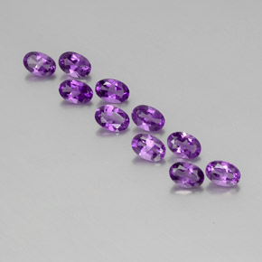 Violet Amethyst Gem - 0.4ct Oval Facet (ID: 357435)
