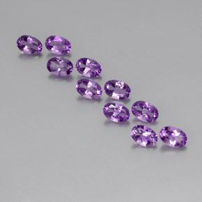 Violet Amethyst Gem - 0.4ct Oval Facet (ID: 357440)