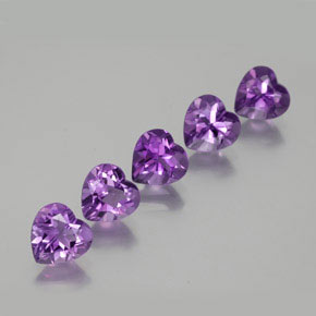 Violet Amethyst Gem - 0.7ct Heart Facet (ID: 357464)