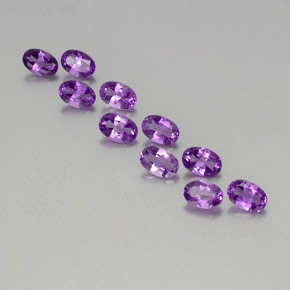 Violet Amethyst Gem - 0.4ct Oval Facet (ID: 357494)
