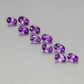 Violet Amethyst Gem - 0.4ct Oval Facet (ID: 357496)