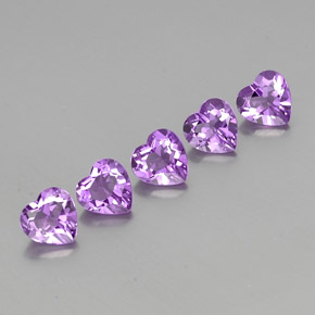 Violet Amethyst Gem - 0.7ct Heart Facet (ID: 357583)