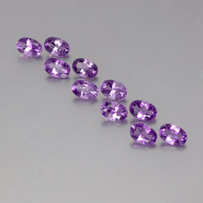 Deep Purplish Violet Amatista Gema - 0.4ct Forma ovalada (ID: 357689)