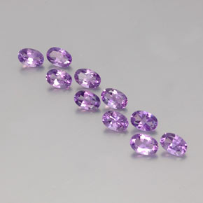 Violet Amethyst Gem - 0.4ct Oval Facet (ID: 357709)