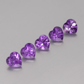 Violet Amethyst Gem - 0.7ct Heart Facet (ID: 357711)