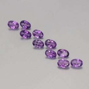 Violet Amethyst Gem - 0.4ct Oval Facet (ID: 357939)