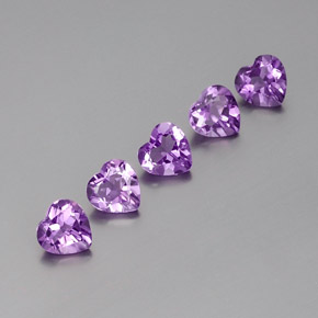Violet Amethyst Gem - 0.7ct Heart Facet (ID: 357960)