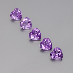 Violet Amethyst Gem - 0.6ct Heart Facet (ID: 357961)