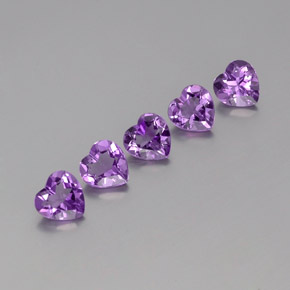 Violet Amethyst Gem - 0.7ct Heart Facet (ID: 357965)