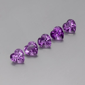 Violet Amethyst Gem - 0.7ct Heart Facet (ID: 358062)