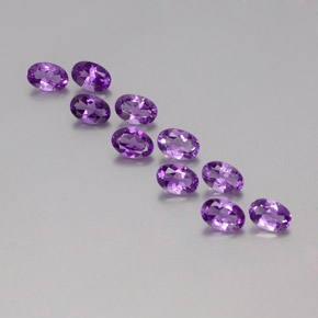 Violet Amethyst Gem - 0.4ct Oval Facet (ID: 358113)