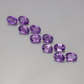 Violet Amethyst Gem - 0.4ct Oval Facet (ID: 358297)