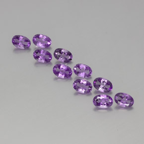 Violet Amethyst Gem - 0.4ct Oval Facet (ID: 358403)