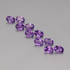 Violet Amethyst Gem - 0.4ct Oval Facet (ID: 358444)