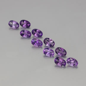 Deep Purplish Violet Amethyst Gem - 0.4ct Oval Facet (ID: 358450)