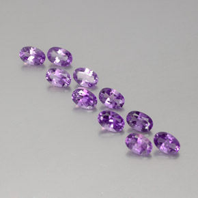 Medium Purplish Violet Ametista Gem - 0.4ct Ovale sfaccettato (ID: 358791)