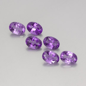 Violet Amethyst Gem - 0.7ct Oval Facet (ID: 358879)
