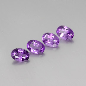 Violet Amethyst Gem - 0.7ct Oval Facet (ID: 359713)