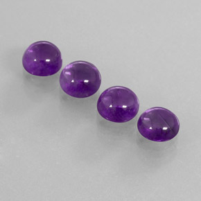 Purple Amethyst Gem - 1.9ct Round Cabochon (ID: 363067)