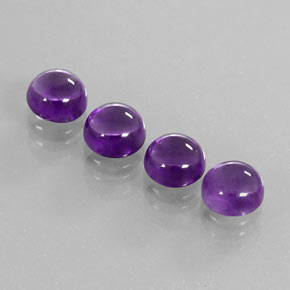 Purple Amethyst Gem - 2.3ct Round Cabochon (ID: 363111)