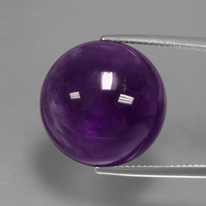 20.41 ct Round Cabochon Purple Amethyst Gemstone 18.09 mm  (Product ID: 363264)