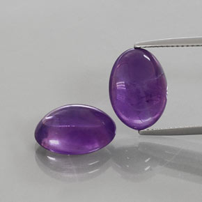 Purple Amethyst Gem - 6.1ct Oval Cabochon (ID: 363882)