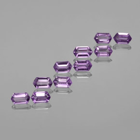 Violet Amethyst Gem - 0.5ct Hexagon Cut (ID: 370662)