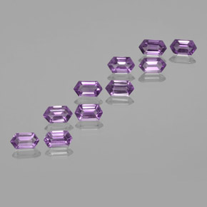 Violet Amethyst Gem - 0.6ct Hexagon Cut (ID: 370665)