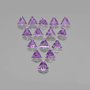 Violet Amethyst Gem - 0.6ct Trillion Facet (ID: 370680)