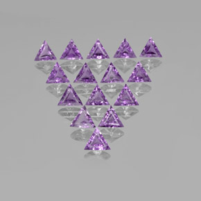 0.60 ct Trillion Facet Deep Pinkish Violet Amethyst Gemstone 7.00 mm x 5.9 mm (Product ID: 370683)