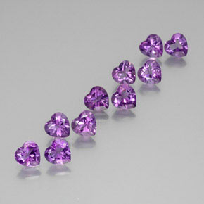 Medium Violet Amethyst Gem - 0.7ct Heart Facet (ID: 370966)