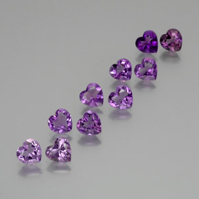 Violet Amethyst Gem - 0.6ct Heart Facet (ID: 371093)