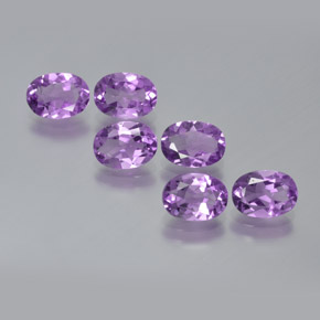 Violet Amethyst Gem - 0.7ct Oval Facet (ID: 371695)