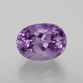 6.50 ct Oval Facet Violet Amethyst Gemstone 13.16 mm x 9.8 mm (Product ID: 375218)