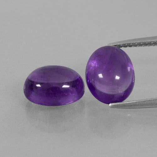 Medium-Light Violet Amethyst Gem - 2.9ct Oval Cabochon (ID: 392362)