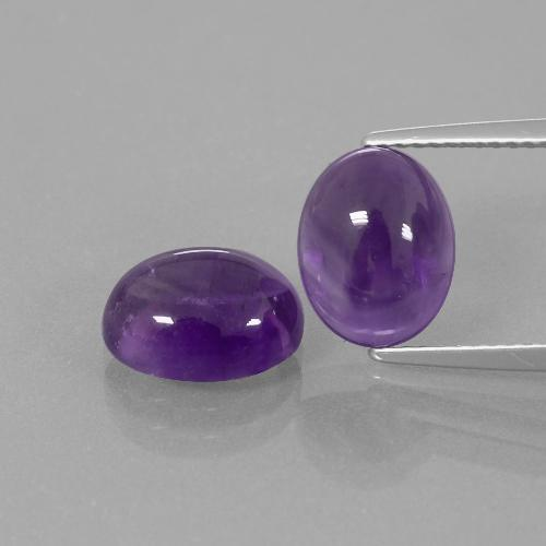 Medium Violet Amethyst Gem - 2.7ct Oval Cabochon (ID: 392444)