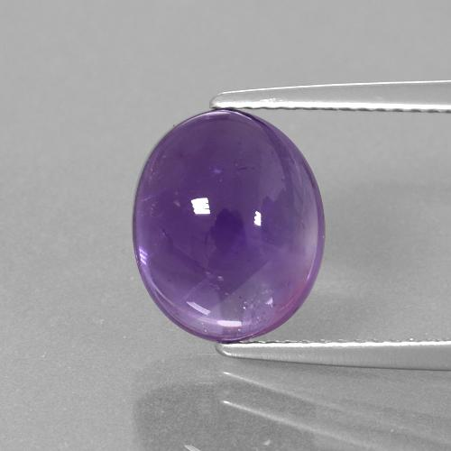 Medium-Light Violet Amethyst Gem - 4.5ct Oval Cabochon (ID: 392466)