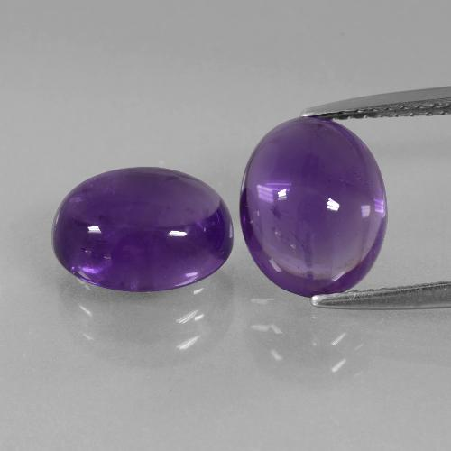 Medium Violet Amethyst Gem - 2.9ct Oval Cabochon (ID: 392487)