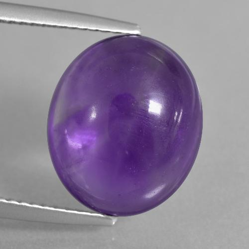 Medium Violet Amethyst Gem - 7.6ct Oval Cabochon (ID: 405186)