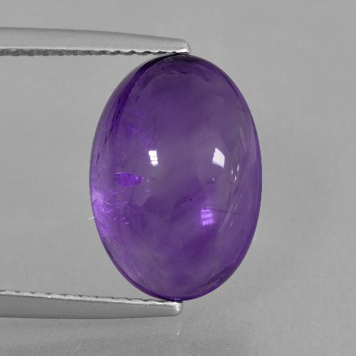 Medium Violet Amethyst Gem - 6.6ct Oval Cabochon (ID: 405223)