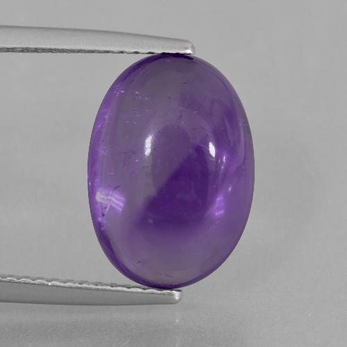Medium Violet Amethyst Gem - 6.1ct Oval Cabochon (ID: 405226)