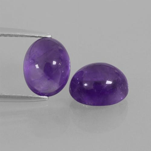 Medium Violet Amethyst Gem - 2.4ct Oval Cabochon (ID: 411850)